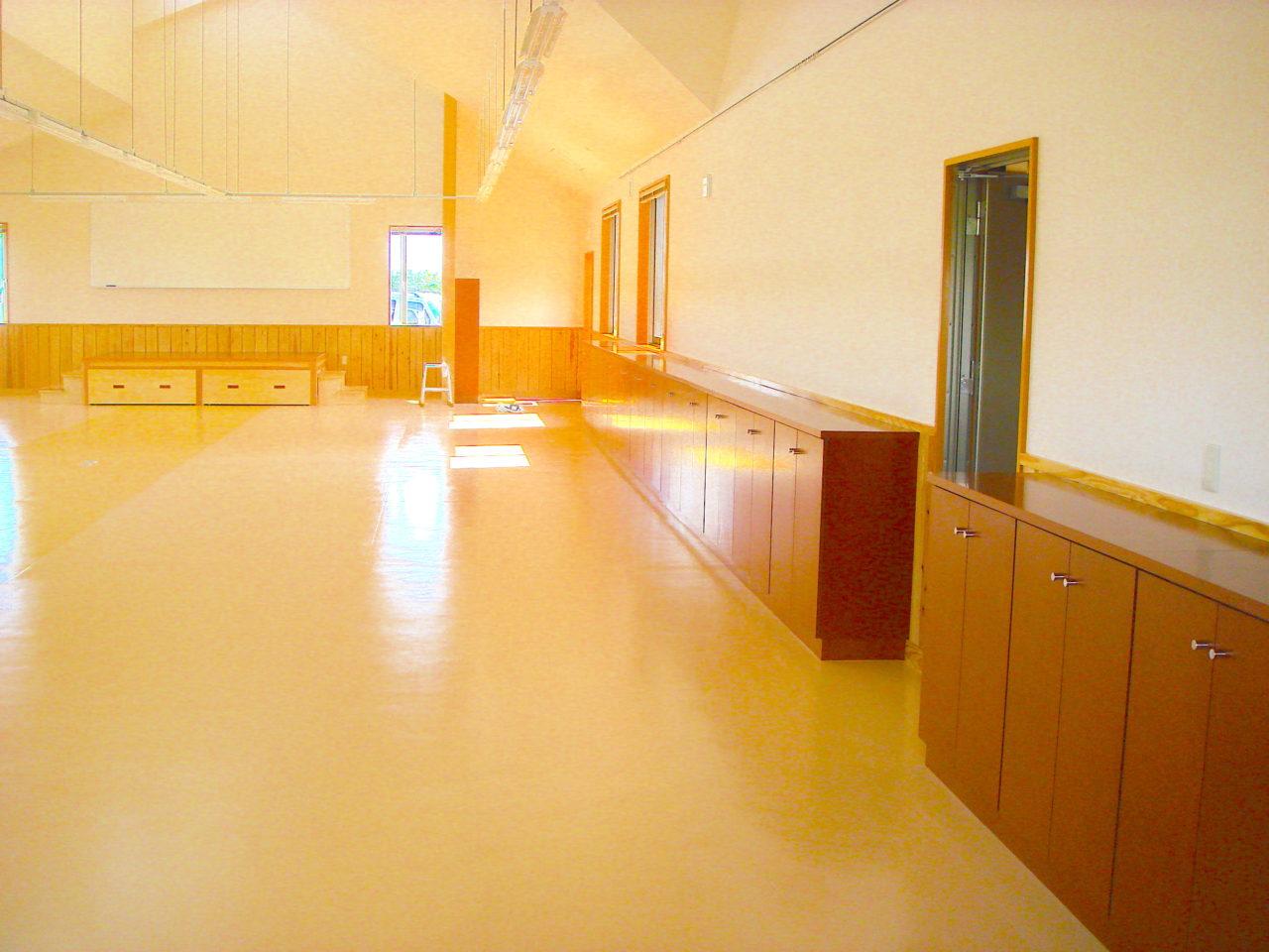 施設の建具と家具を担当しました